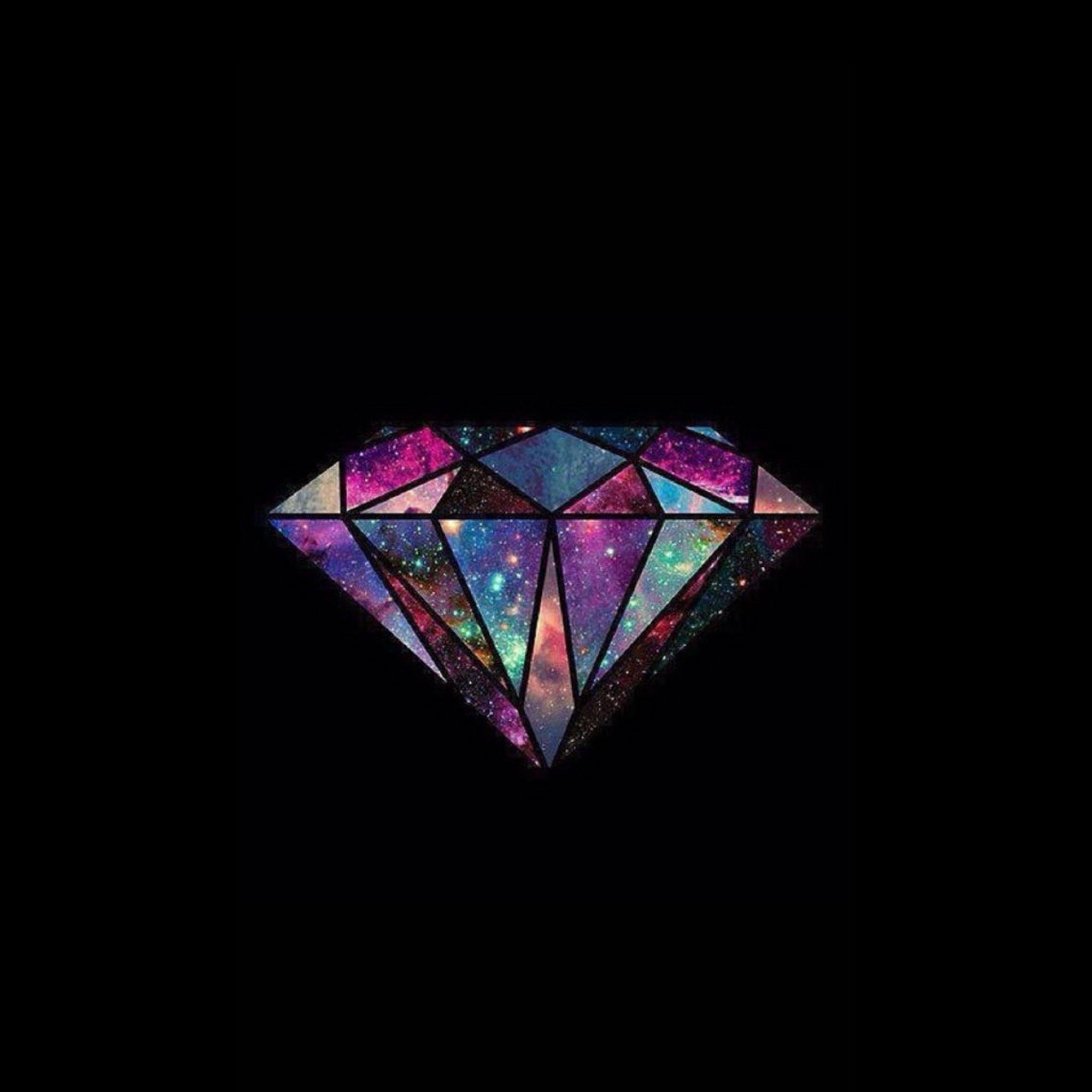 Galaxy Diamond Wallpaper Ilustrasi Vektor Seni Inspirasi Wallpaper Ponsel