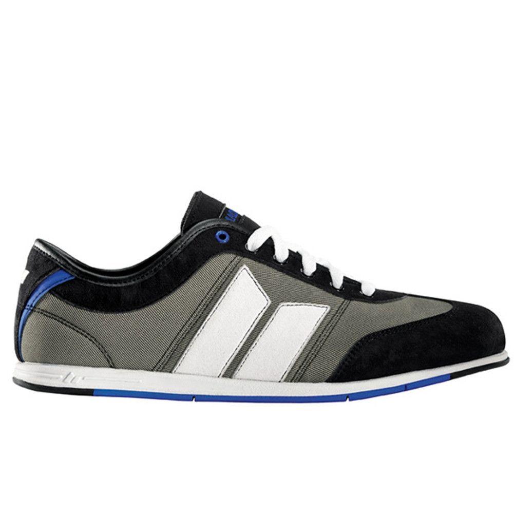 Macbeth - Brighton Black Grey and Blue Textile Shoes