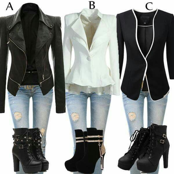 Omg i love this. Blazer and jeans with some sexy boots......yes please!!!