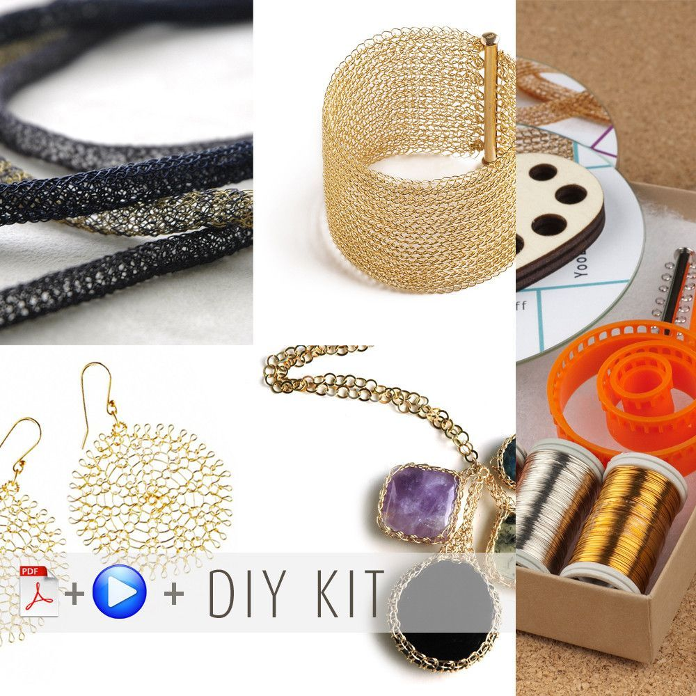 Wire crochet beginners kit 2 , video tutorials , supply and tools ...