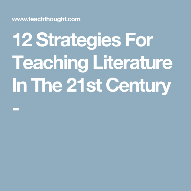 local literature about teaching strategies To the graduate council: i am submitting herewith a thesis written by ya-ching chang entitled students' perceptions of teaching styles and use of learning strategies.