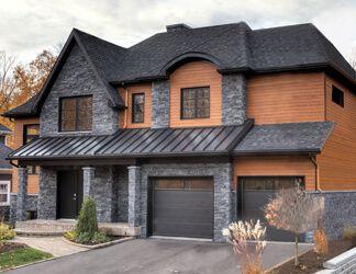Image Result For Black Stone Veneer Siding Exterior House Siding Exterior House Colors Combinations House Paint Exterior