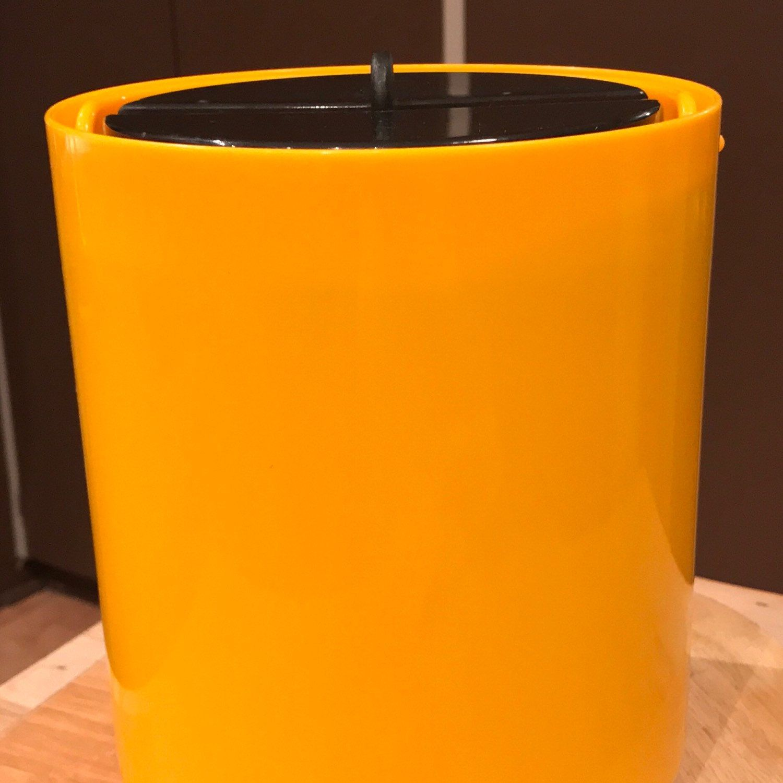 Vintage Bodum Yellow U0026 Black Ice Bucket MCM Home Decor Modern