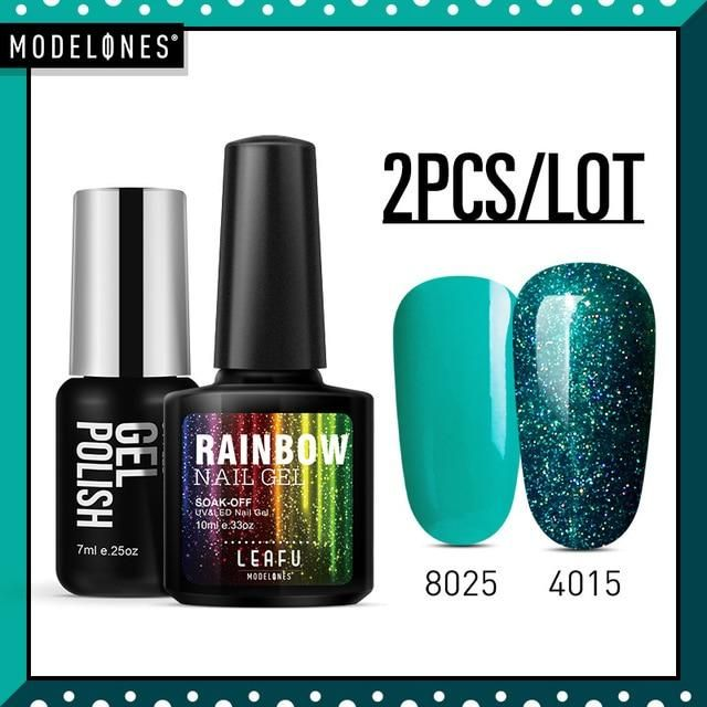 Modelones 2pcs Lot Neon Gel Polish Nail Art Manicure Set Diy Nail