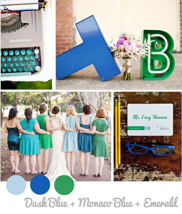 colores boda primavera 2013 esmeralda y azul