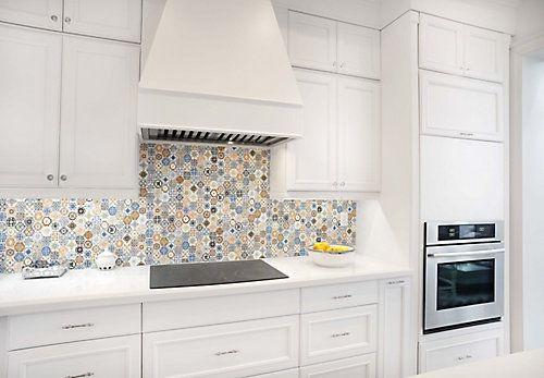 How To Install A Glass Tile Backsplash Mosaic Glass Mosaic Tile Backsplash Hexagonal Mosaic Mosaic Backsplash Kitchen