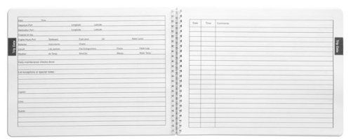 BookFactory® Captain's Log Book / Boat Log Book / Ship's ...