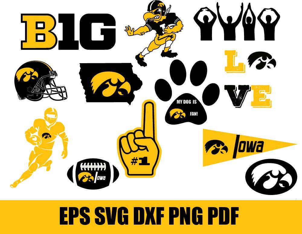 Iowa Hawkeyes Svg Football Svg Football Gift Iowa Iowa University