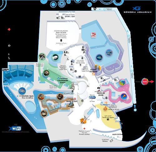 Visitor Information in 2020 | Georgia aquarium, Aquarium, Map