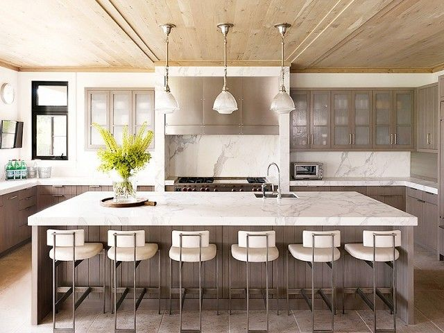 Stunning Carrara Kitchen Top Table Top For A Contemporary Kitchen