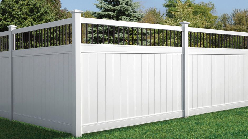 Veranda Pro Series 6 Ft X 8 Ft Woodbridge Baluster Top Unassembled Vinyl Fence Panel 244551 The Home Depot Vinyl Fence Panels Fence Panels White Vinyl Fence