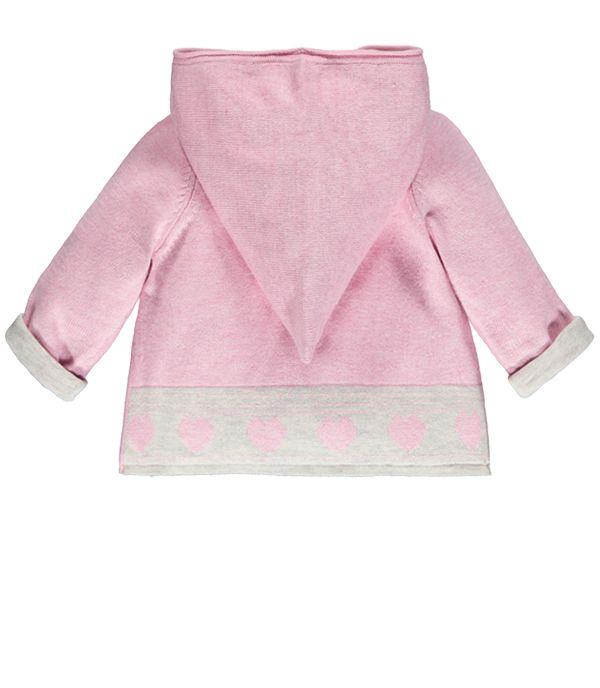Hooded Front Wrap Knit Cardigan / Cardigan cache-cœur a capuche,  Souris Mini