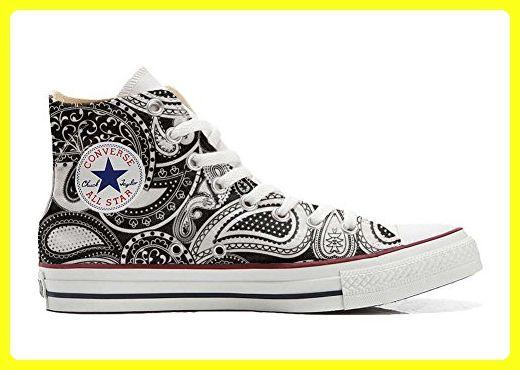 Converse All Star Hi Customized personalisierte Schuhe (Handwerk Schuhe) Elegant Paisley size 32 EU