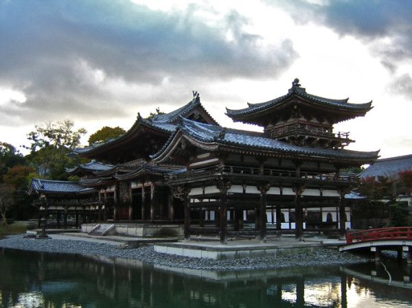 The Phoenix Hall (鳳凰堂 Hoo-do) of Byodo-in (平等院) in Kyoto- constructed in 1053 (This is the hall on the 10 yen coin)