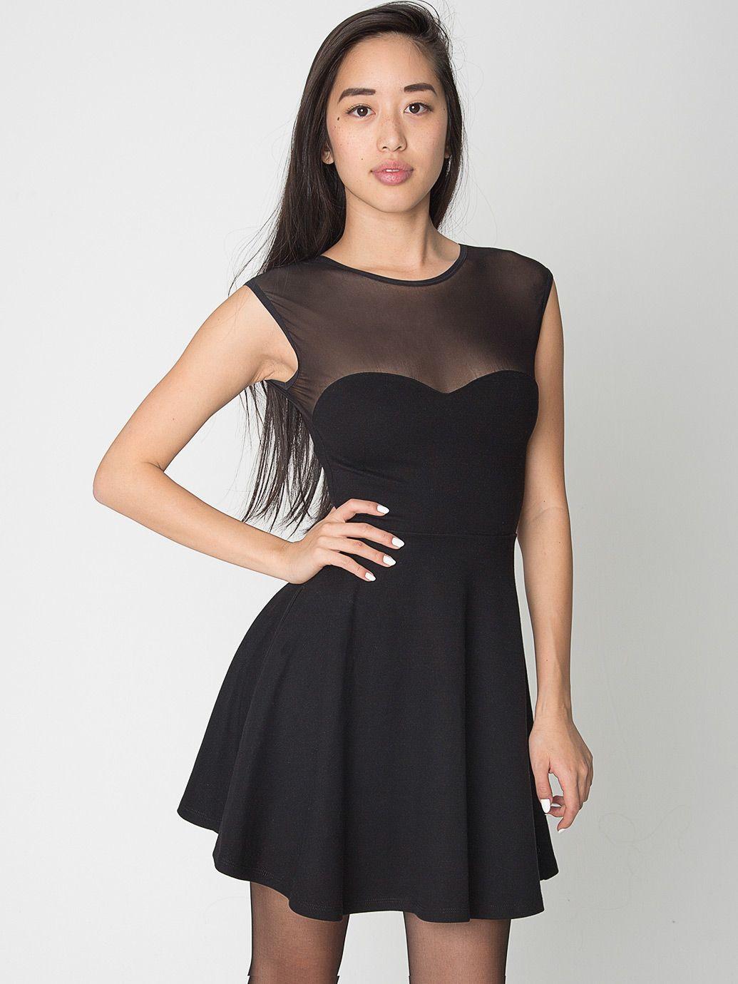 Ponte Sweetheart Skater Dress American Apparel Mesh Skater Dress Dresses American Apparel [ 1380 x 1035 Pixel ]