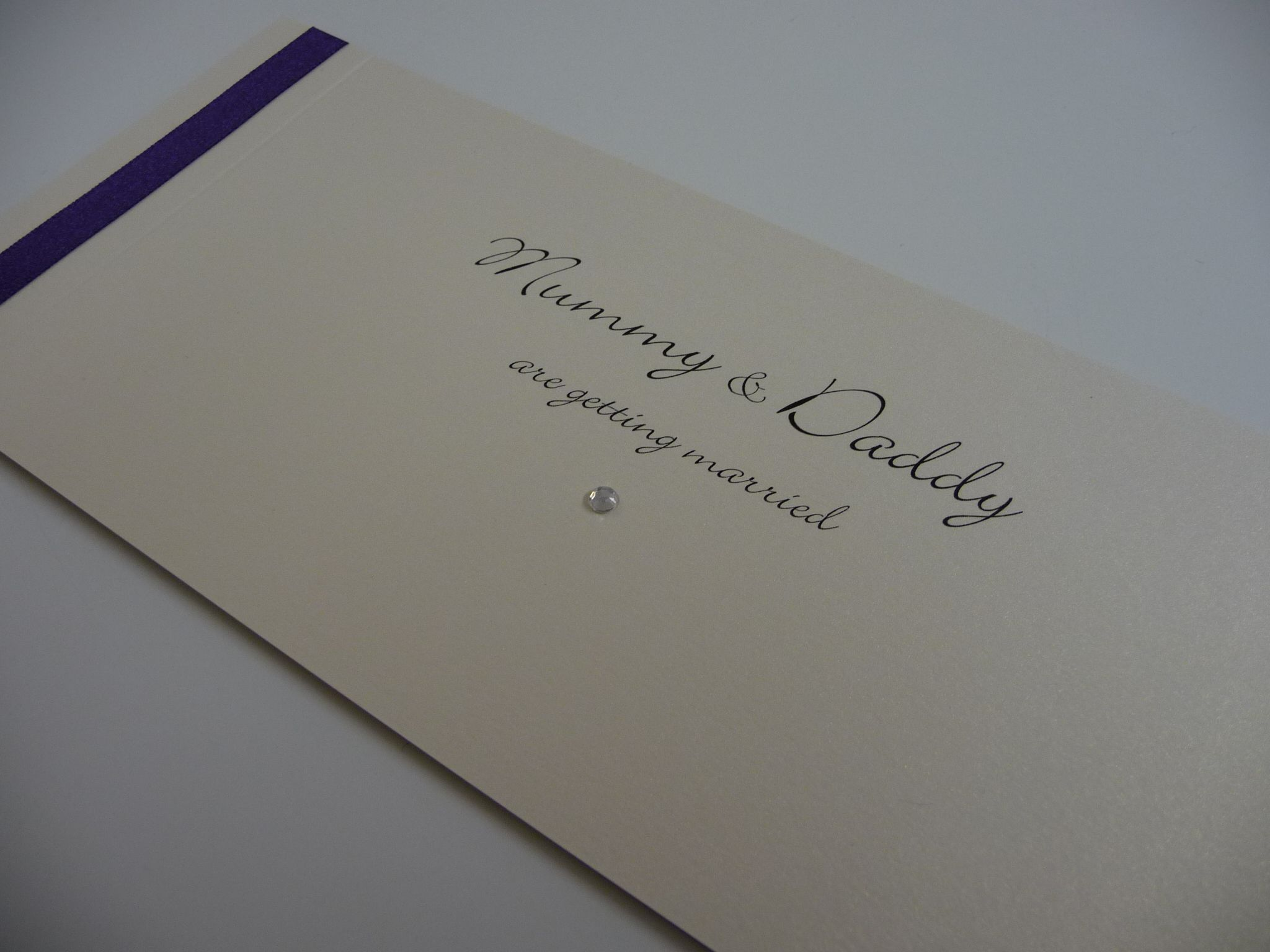 Mummy And Daddy Are Getting Married Wedding Invitations