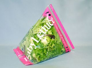 tetrahedral shape salad packaging