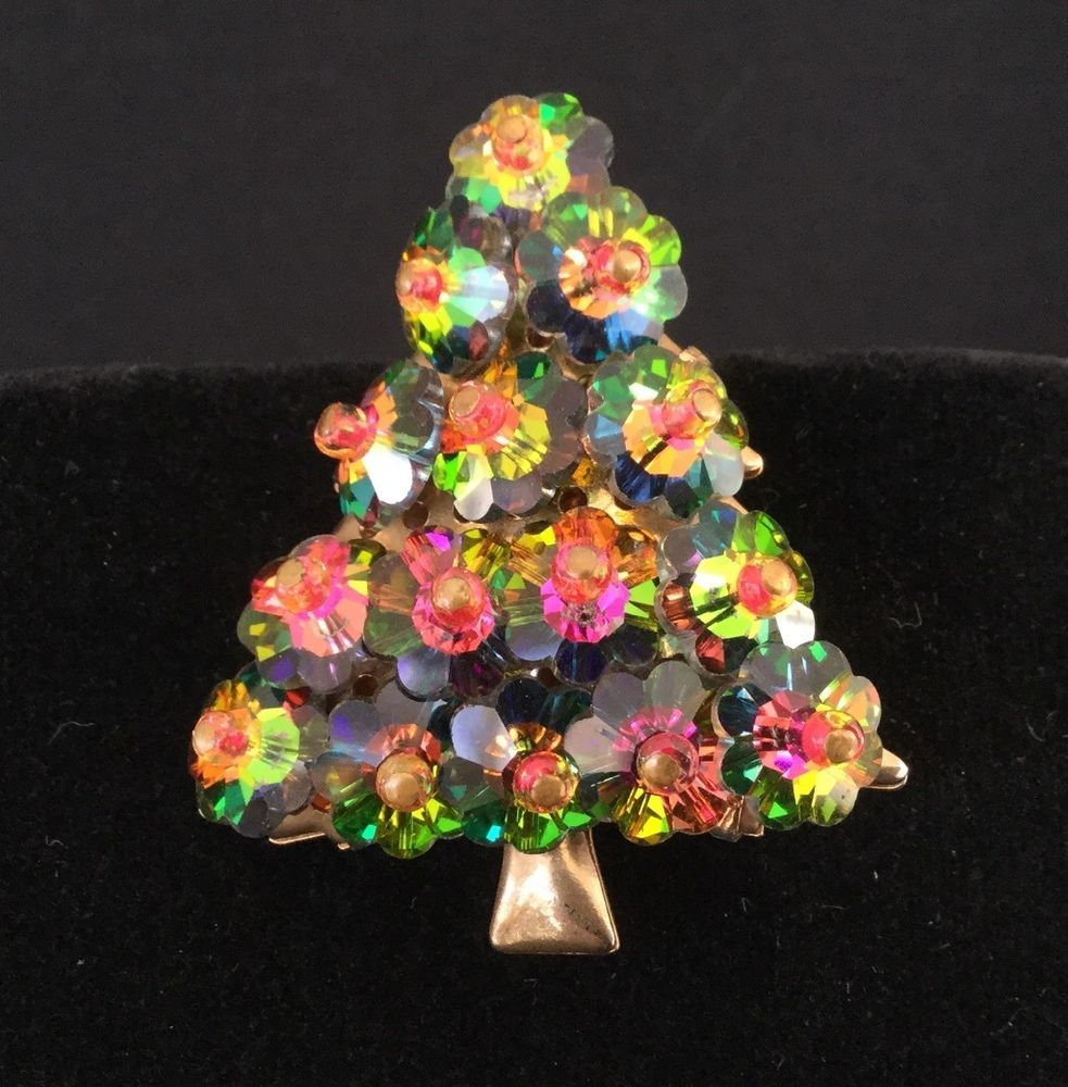 Margarita ornament - Vintage Watermelon Margarita Crystal Christmas Tree Pin Brooch Ex Condition