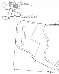 Free leather holster patterns and information for those who make their own. More holster maker information included in the FAQ and DIY sections.
