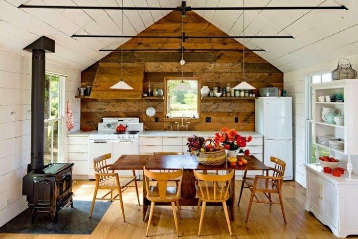 k che dachschr ge 50 ideen f r ein auff lliges k chendesign wohnen minihaus holzwand. Black Bedroom Furniture Sets. Home Design Ideas