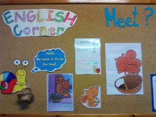 EDUCACIÓN INFANTIL: ENGLISH CORNER