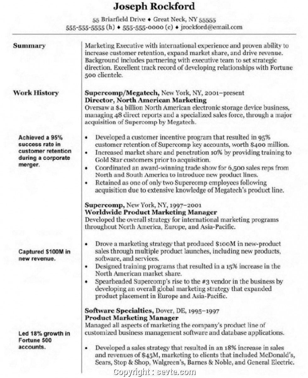Example summary statement resume in 2021 marketing
