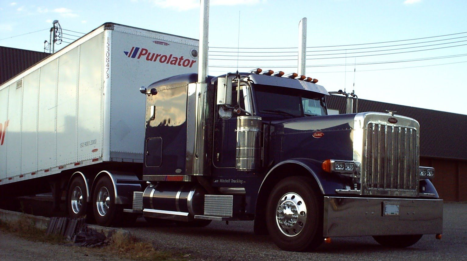 The gallery for peterbilt 389 flat top