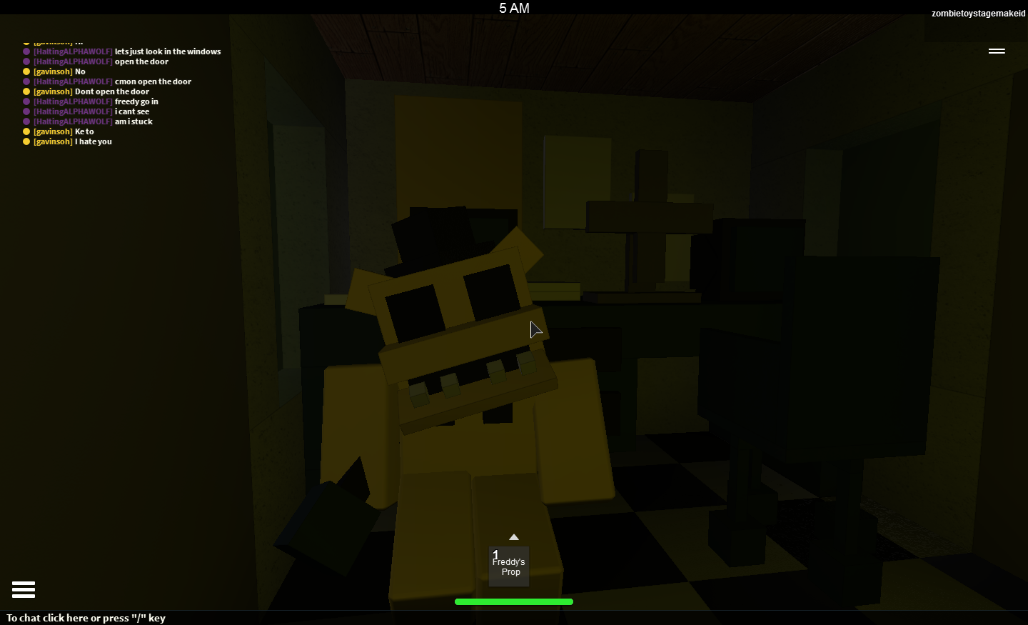 Five Nights At Freddys Golden Freddy On Roblox Dont Look You Will