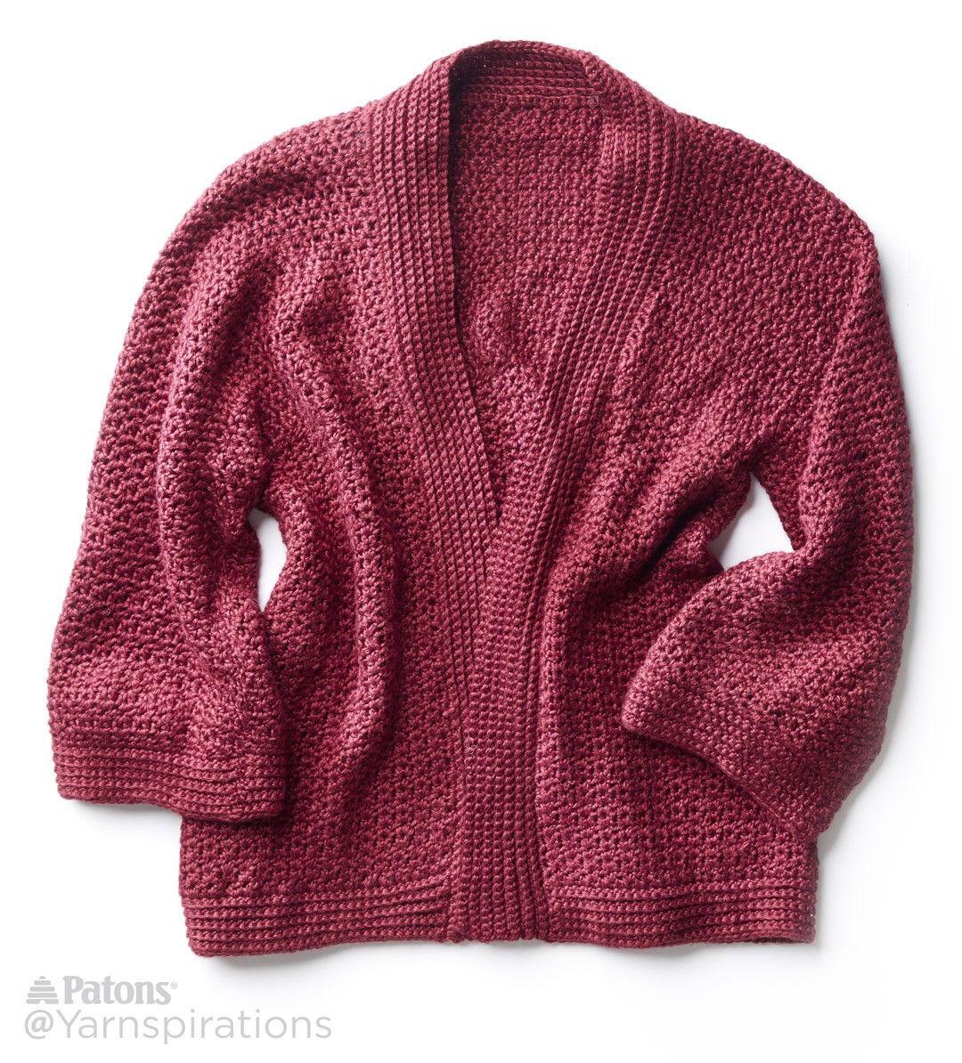 Soft Drape Kimono Crochet Jacket Free Pattern Yarnspirations