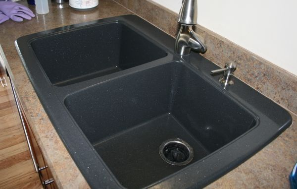 Battle Of The Black Granite Composite Sink With Images Black