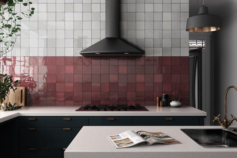 Equipe Artisan 1 Kitchen Bathroom Public Spaces Ceramic Tile Wall Glossy Surface Non Rectified Edge Shade V Kuchenfliesen Kuchendekoration Kuchendesign
