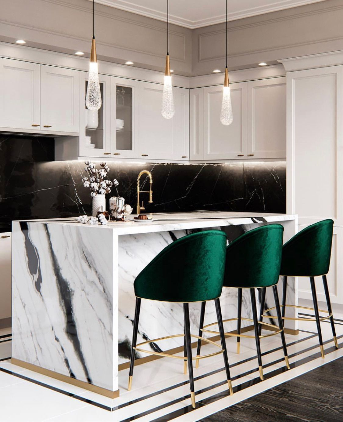 51 Green Kitchen Designs: Loving The Emerald Green! In 2019