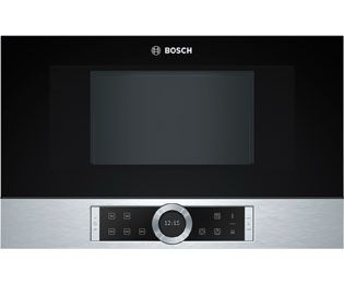 Bosch Serie 8 Bfl634gs1b Built In Microwave Brushed Steel Euro