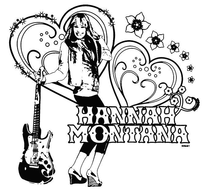 Hannah Montana Coloring Pages Hannah Montana Coloring Pages