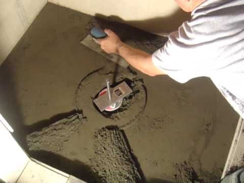 Shower Floor Mud Forming Device VIDEO 1
