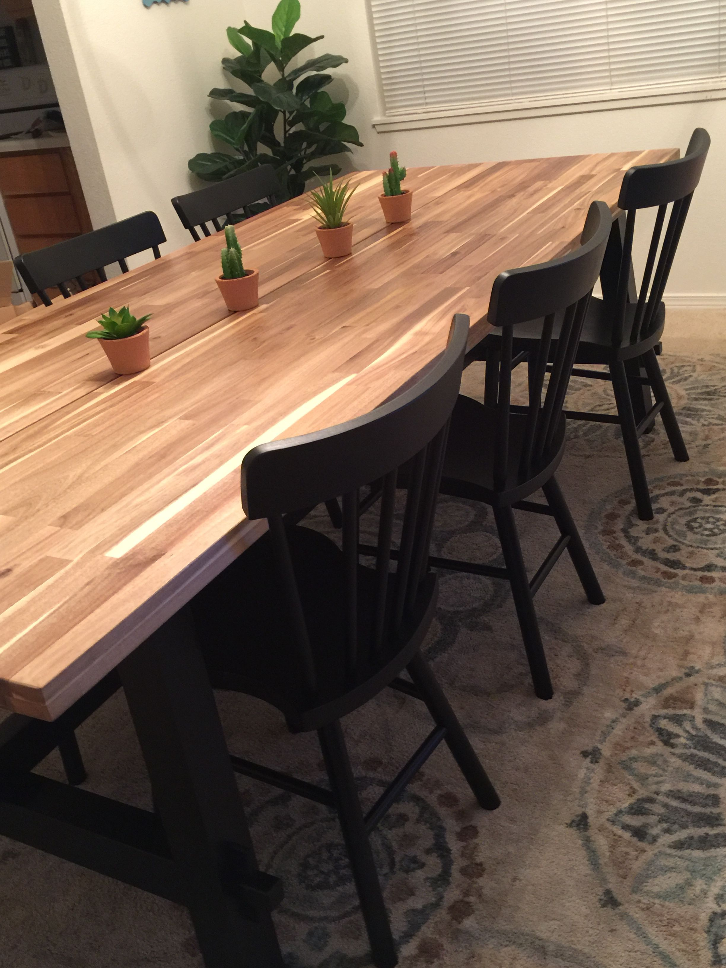 Ikea skogsta table Dining table makeover, Dinner tables
