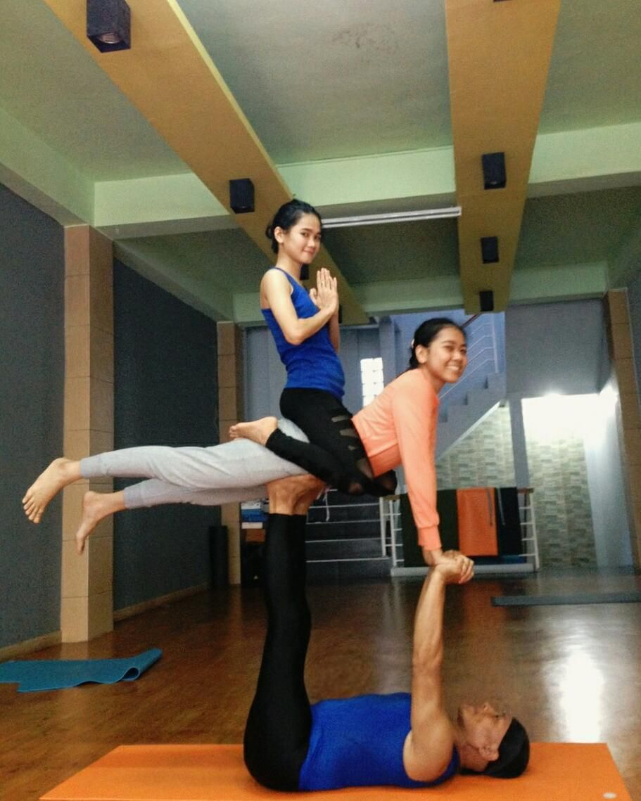 Trio Yoga Challenge Poses
