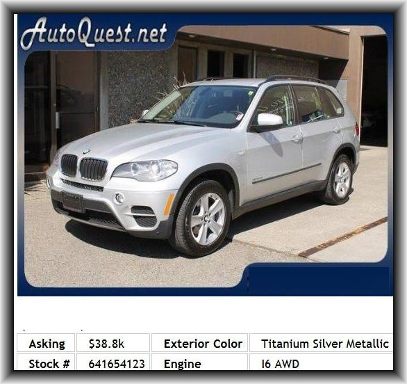 2012 Bmw X5 Xdrive35i Suv Door Pockets Driver Daytime Running