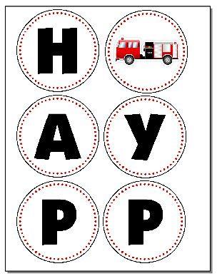 free firetruck birthday printables