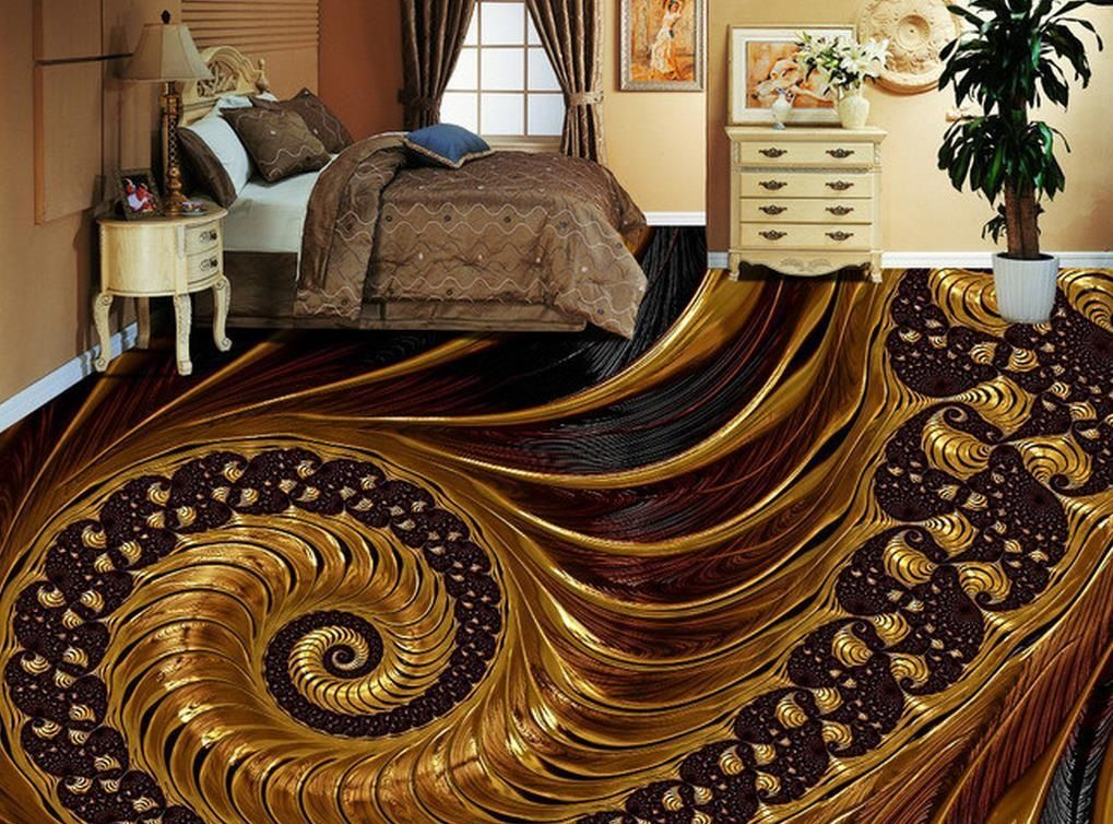 3D Floor Designs With Epoxy Painting For Bedrooms Awesome Collection Of Murals Design Images Self Leveling Flooring