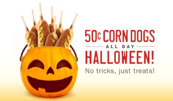 Sonic 50¢ Corn Dogs All Day on Halloween (10/31) Corn