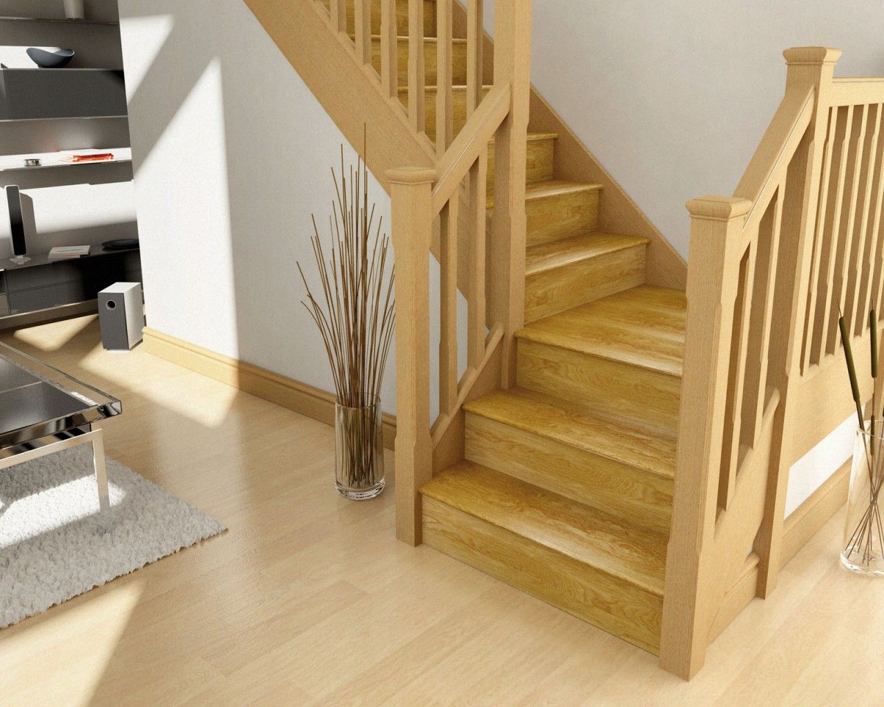 Stair Case Parts #Case #Parts. Wood Stair TreadsOak ...
