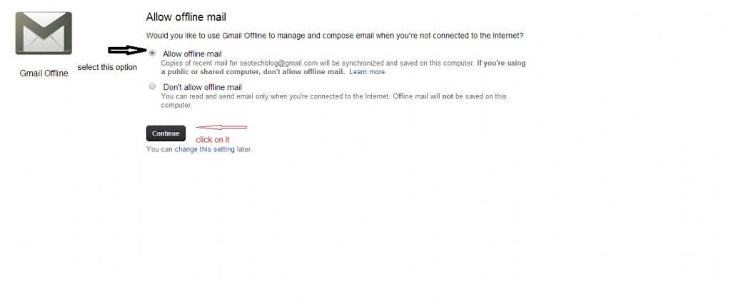 How to on Gmail Offline