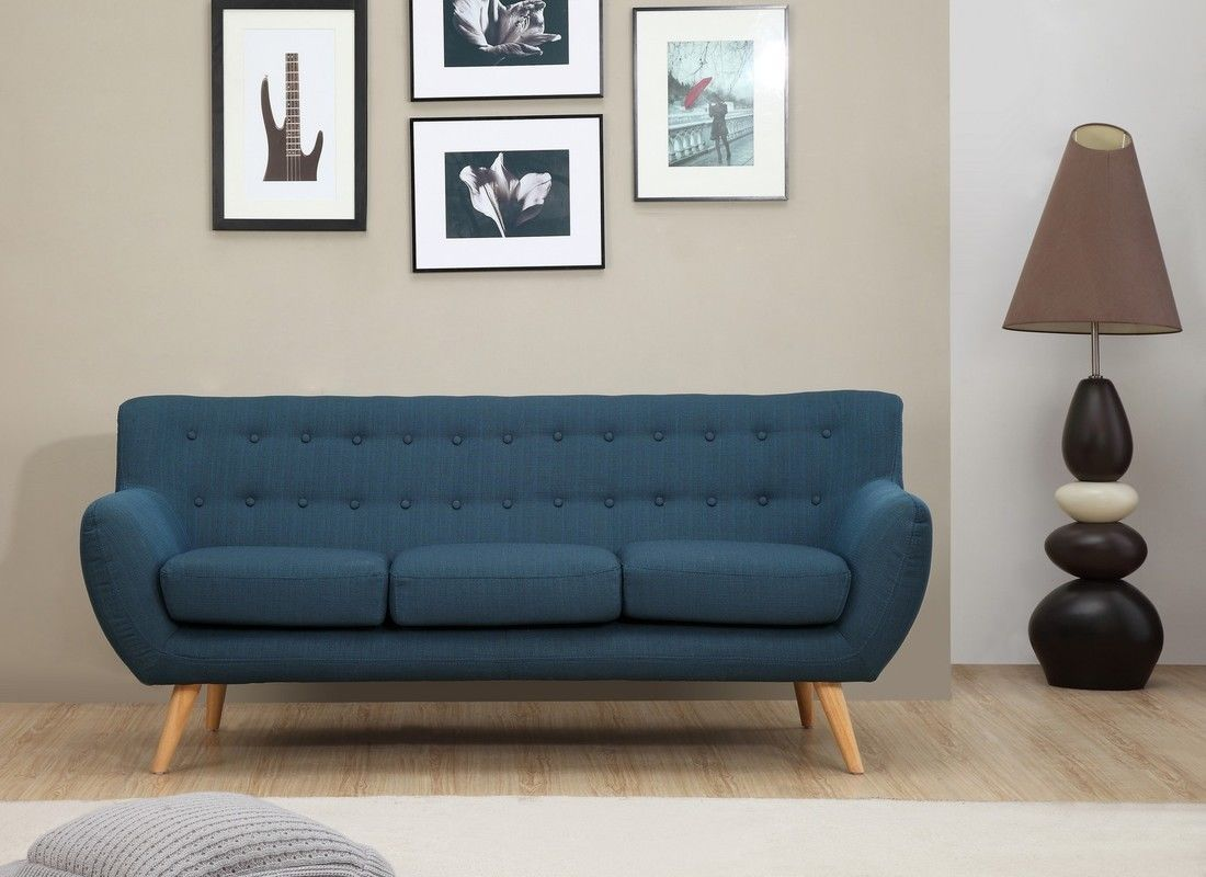 sixties 3 seater sofa - petrol blue - icondesign | for the
