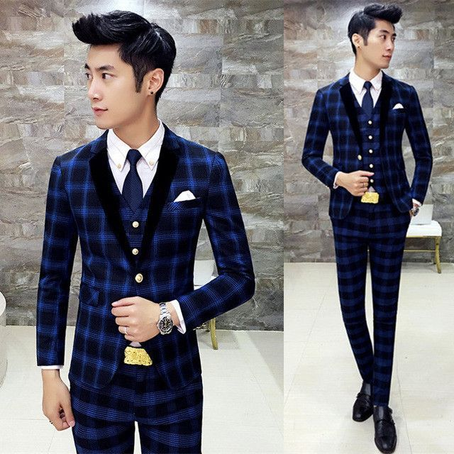 5743672ad140 Pin by Mich on Love That Plaid Suit | Royal blue mens suit, Suits ...