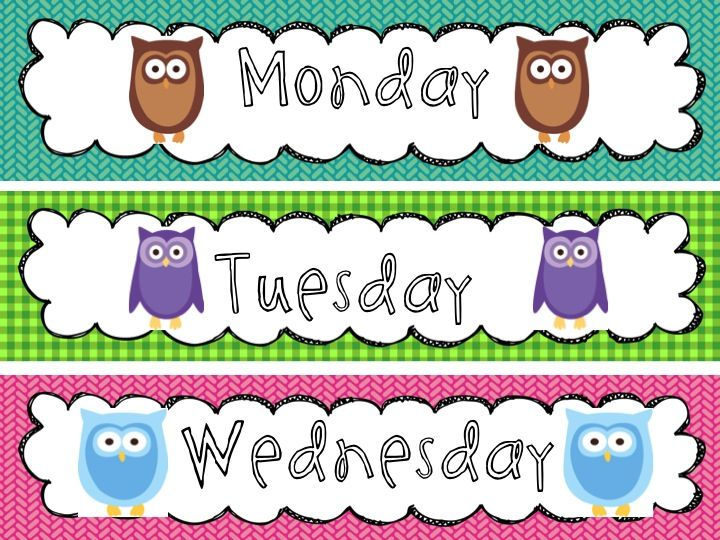 Owl Classroom Decorations Free : Owl classroom decorations calendar signs with
