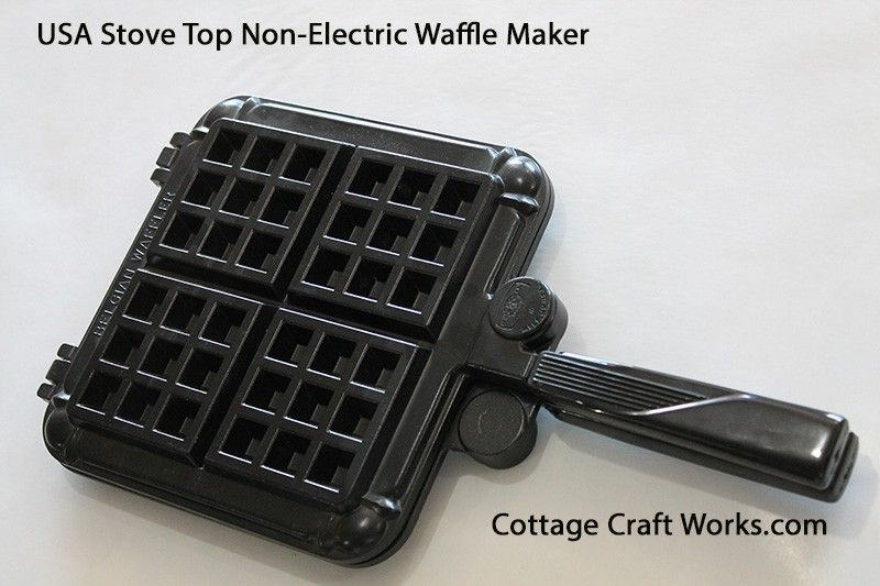 Non Electric Stove Top Belgian Waffle Iron Cooking Utensils Cooking Equipment Kitchen Food Prep Belgian Waffle Iron Belgian Waffle Maker Waffle Iron