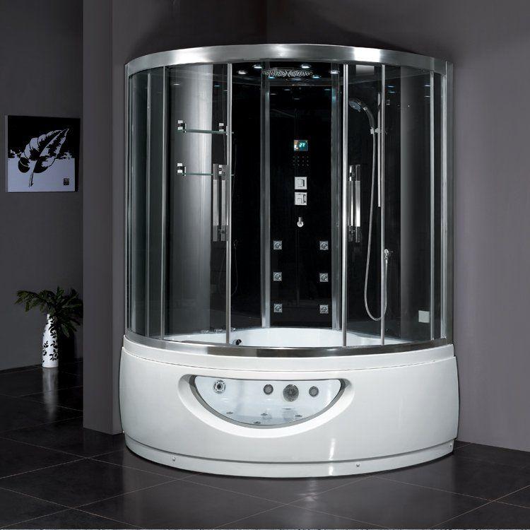 View The Ariel DA333F8 Platinum Steam Shower Enclosure And Whirlpool Bath Tub With System 59