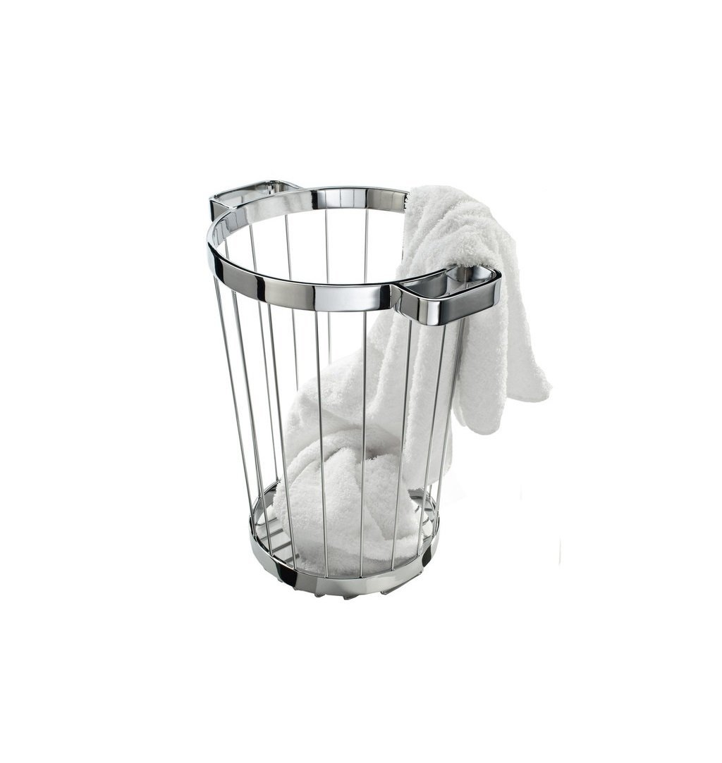 Bathroom Complements 22 Lts Laundry Basket Round Modern Free