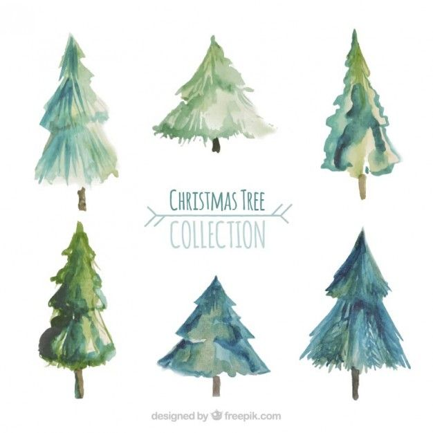 Download Watercolor Christmas Tree Collection For Free Watercolor Christmas Tree Christmas Watercolor Christmas Art